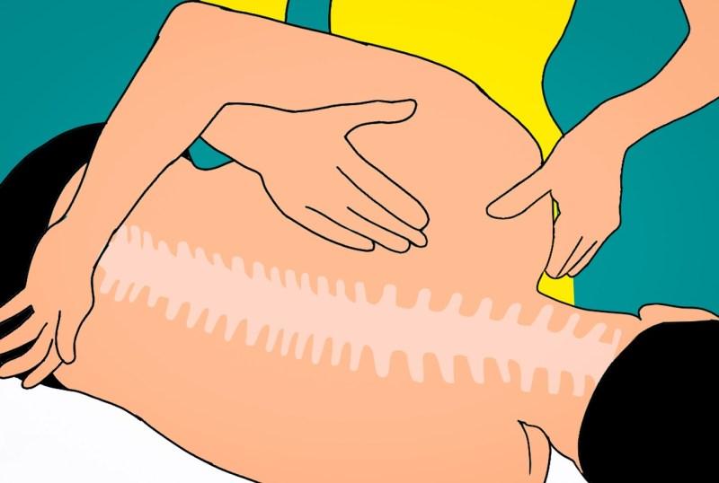 Massage Back Pain Woman Man Neck