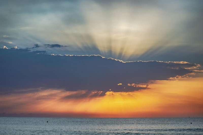 Sunrise Sky Sea Clouds Dawn