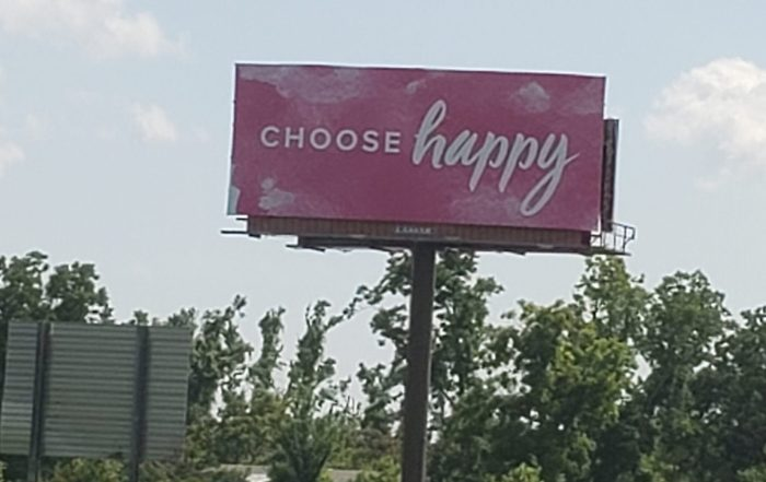 Choose Happy Billboard