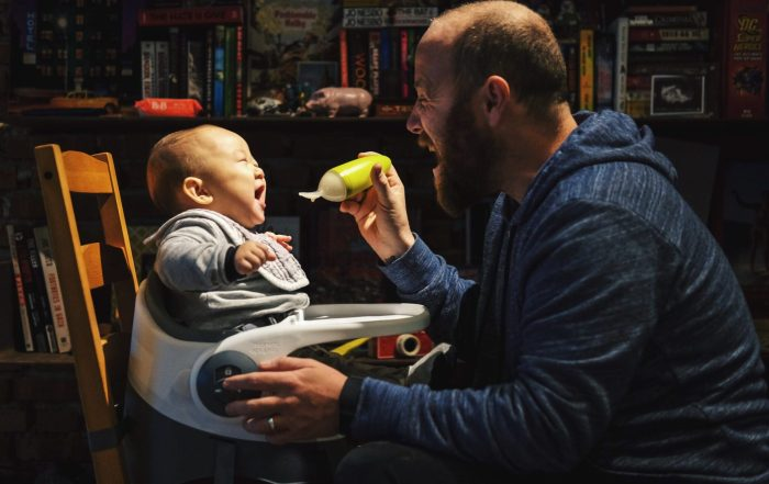 Dad Parenting His Son