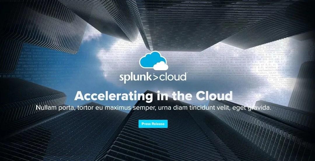 UX UI design work for Splunk