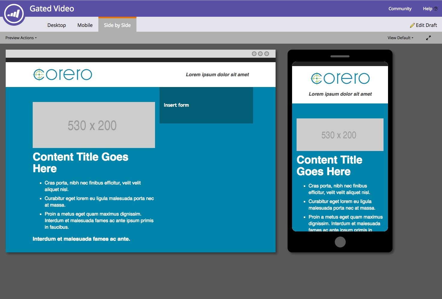Marketo Guided Templates, Landing page designs for Registration, White Papers, Gated Video, Webinars…and more
