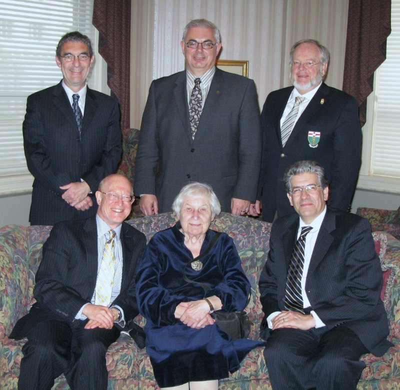 A picture of me with my companions at a dinner at the Manitoba Club on May 12th. See caption for details.