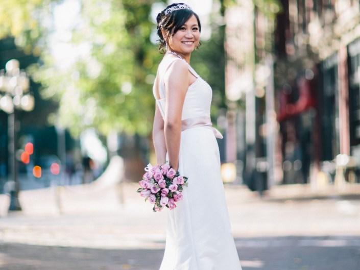 gastown bride portrait