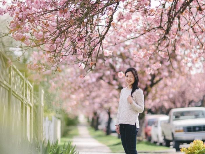 esther's cherry blossom portrait vancouver