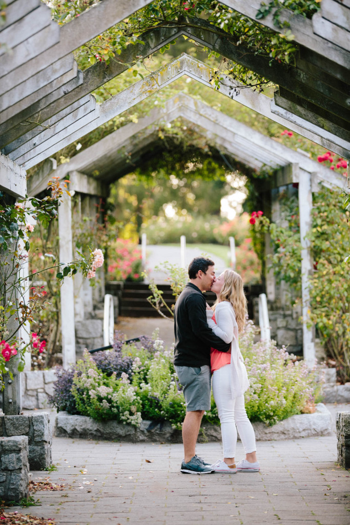 john and jacqueline's surprise engagement in stanley park's rose garden