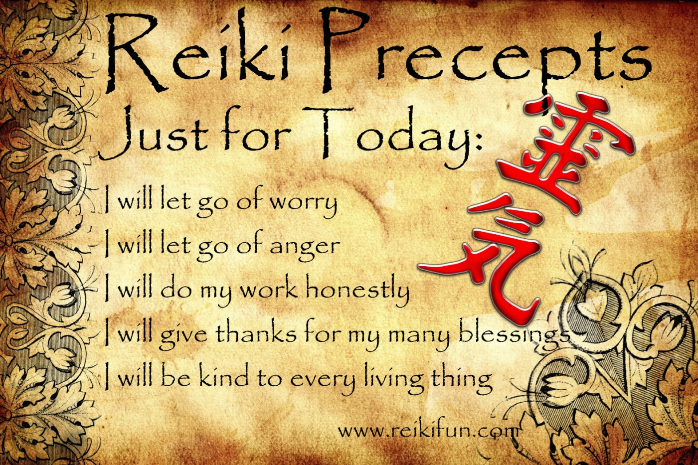 Twenty Year Reiki Anniversary - Providence Life Coaching and Reiki Counseling - ReikiPreceptsEnglish