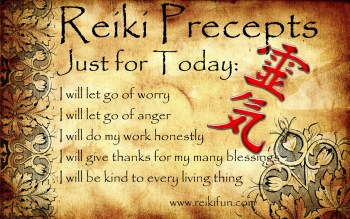 Providence life coaching Reiki counseling- Reiki Precepts English