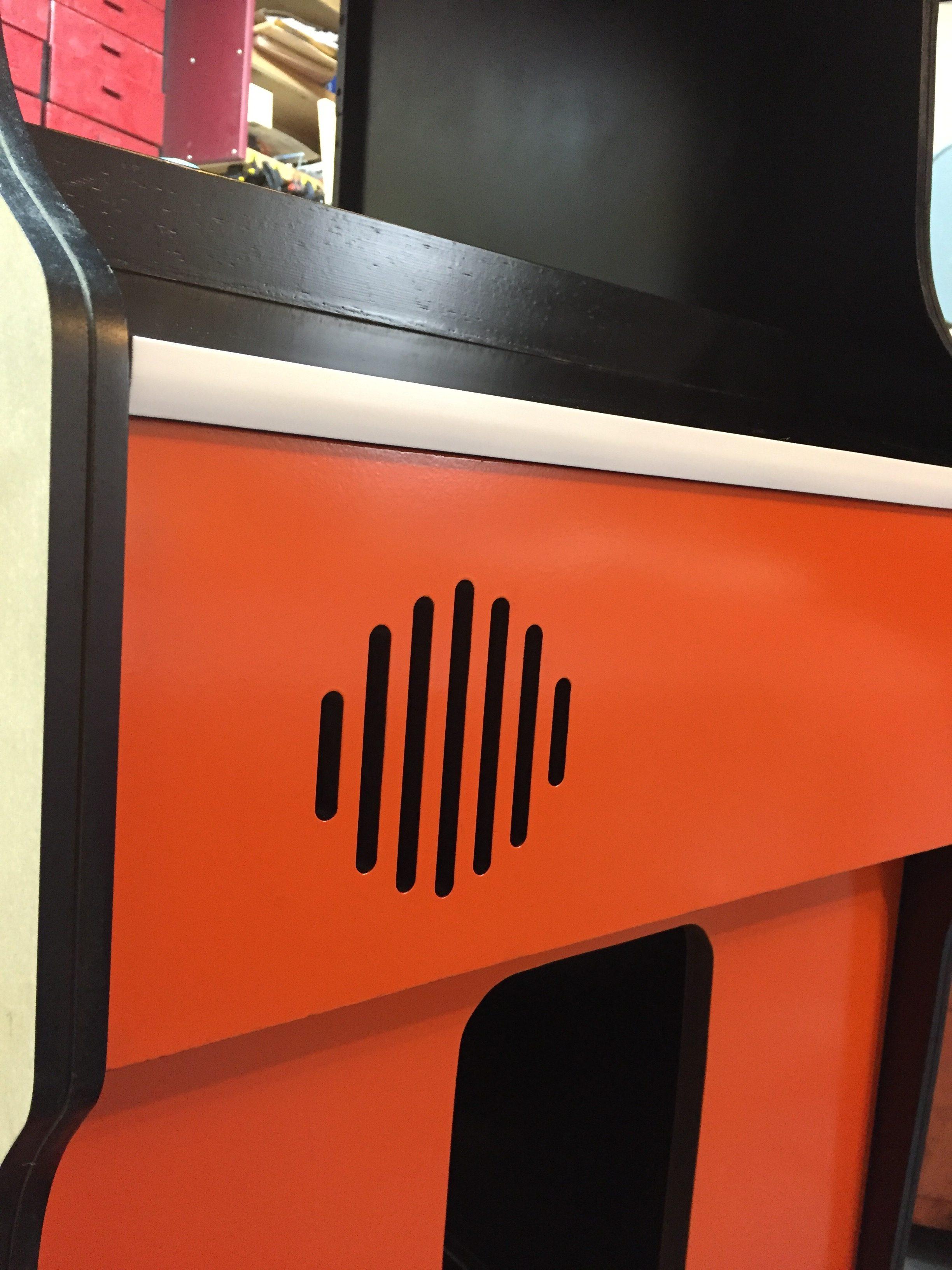 Donkey Kong Arcade Machine: Orange and T-Mold