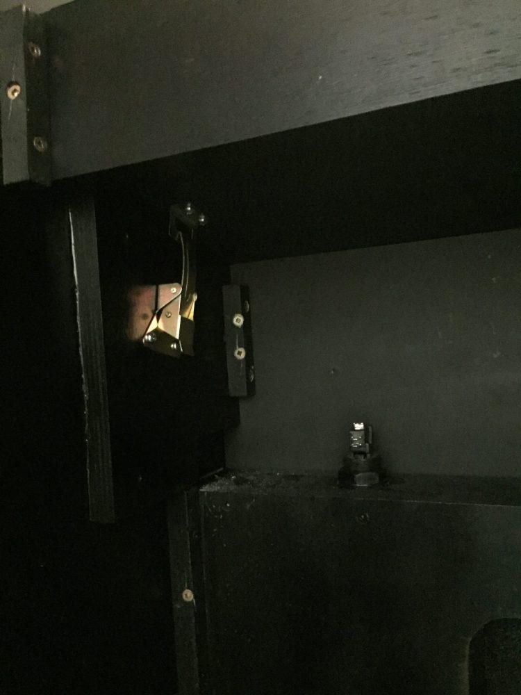 Donkey Kong Arcade Machine: CP Latches Installed