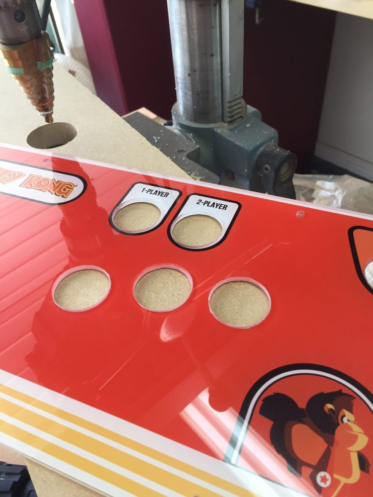 Donkey Kong Arcade Machine: All Auxiliary Holes Drilled