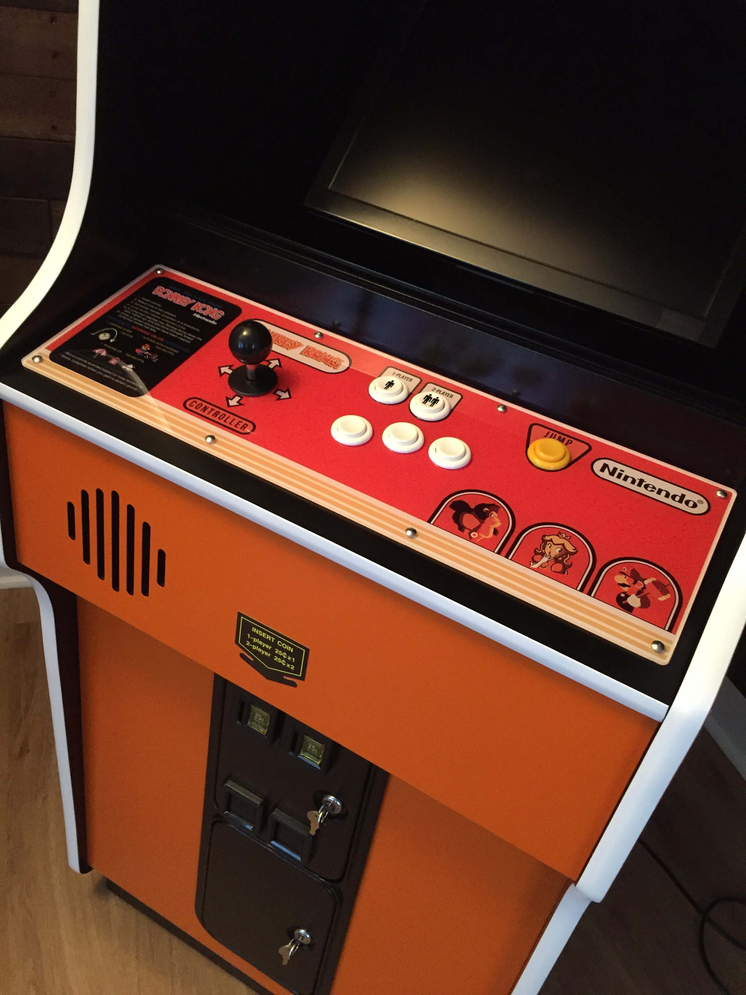 Donkey Kong Arcade Machine: CP Installed in Cabinet