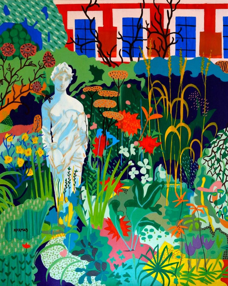 Michal Korman: Derniers jours d'été au Jardin des Plantes, huile sur toile, 100x80cm, Paris 2016