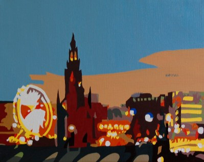 Michal Korman: Edinburgh, oil on canvas, 2008 Brussels