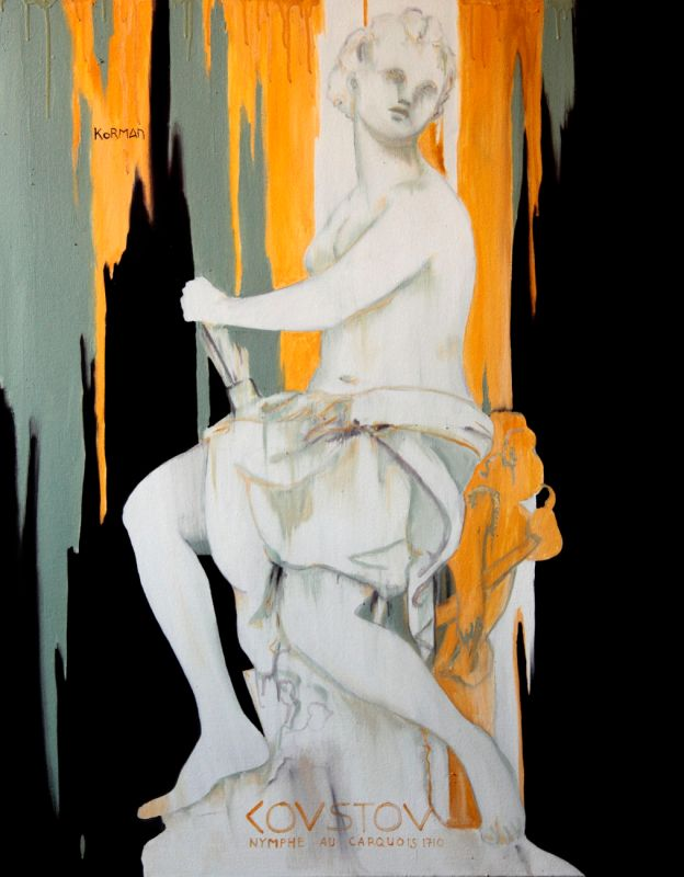 Michal Korman: Nymphe, oil on canvas 100x80cm, Paris 2015