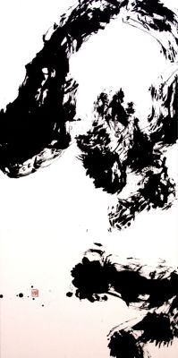 Yoshiko Yoshida: Crystal ball, ink on paper, 2012 Okayama