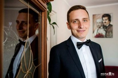 portret pana młodego, przygotowania ślubne