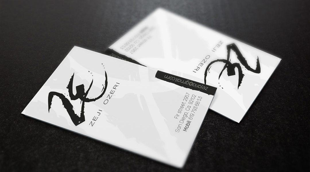 Zeji Ozeri Business card Branding by michalozdesign