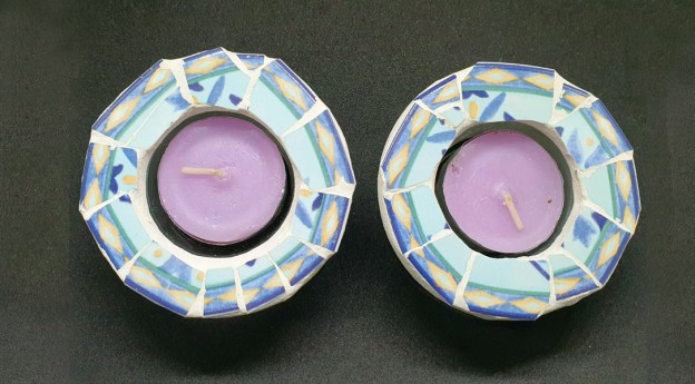 my plates pieces candelstick by michal ozeri judaica