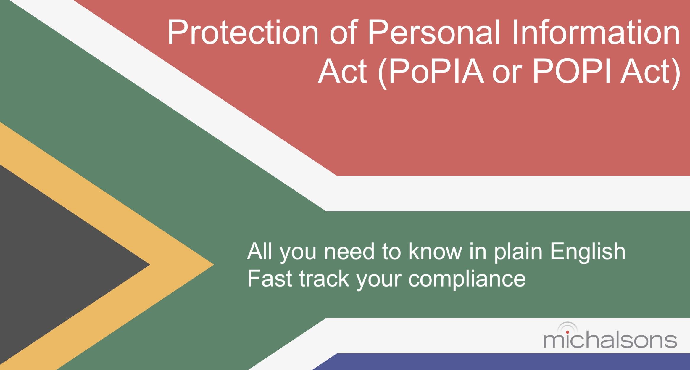 Popi Act Summary In Plain Language