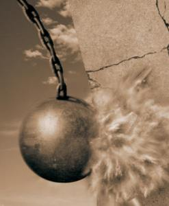 wrecking ball demolishing i