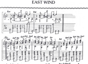 Extraits tablature East Wind