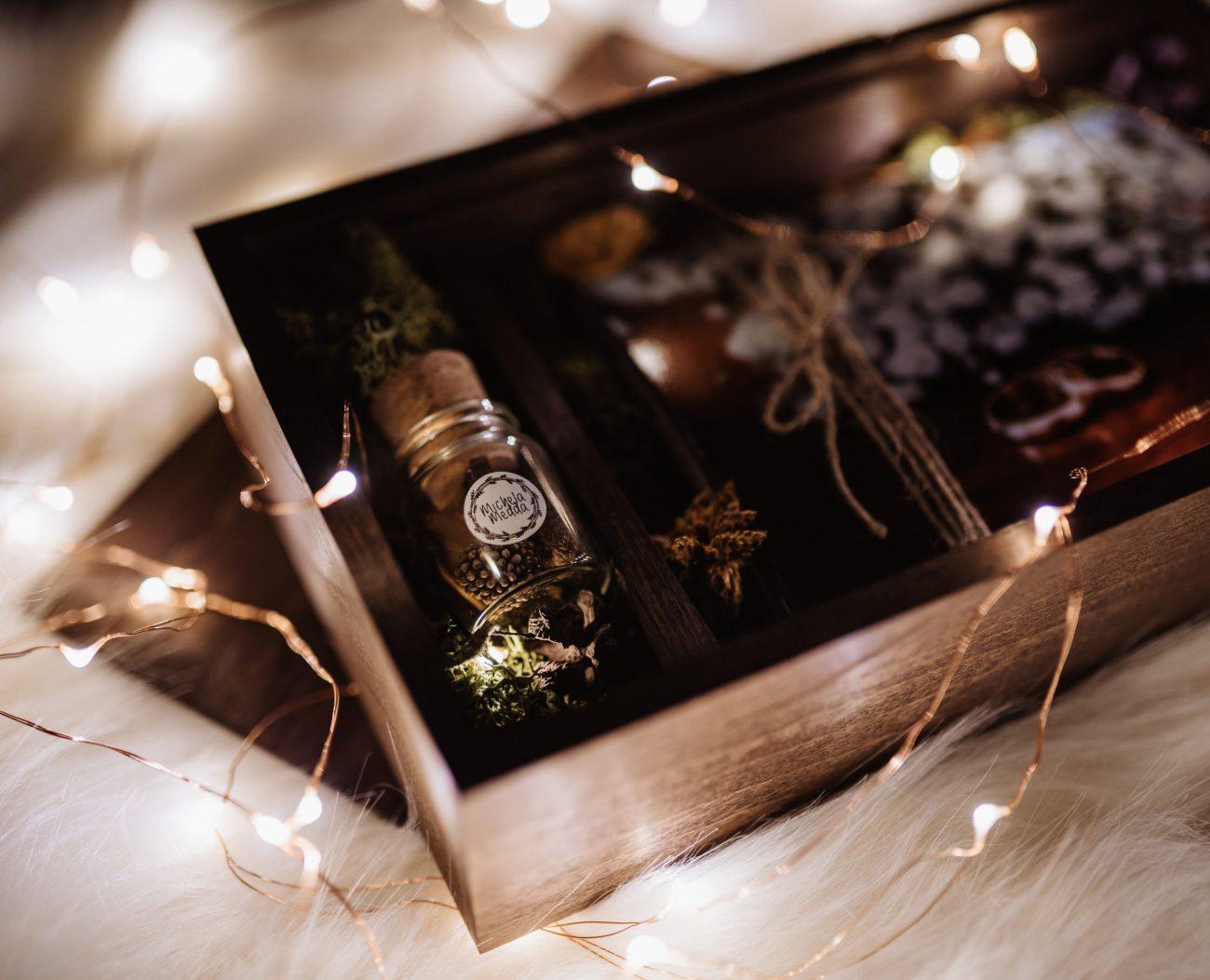 Wooden Box con le foto del Matrimonio in Sardegna
