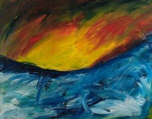 Ölbild von Raphael Walenta aus dem Jahr 2016 Ohne Titel © by Raphael Walenta