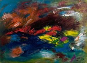 Ölbild von Raphael Walenta aus dem Jahr 2015 Ohne Titel © by Raphael Walenta