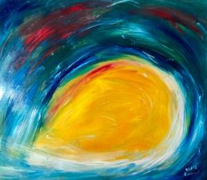 Ölbild von Raphael Walenta aus dem Jahr 2018 Ohne Titel © by Raphael Walenta