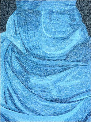 Niqab - Micro-collages 40x50 cm - 900€