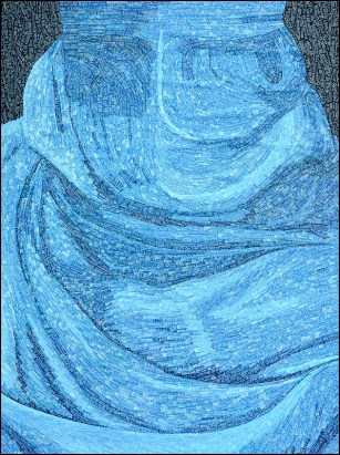Niqab - Micro-collages 40x50 cm - 900€