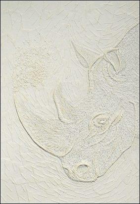 Rhinoceros - Micro-collages 20x30 cm - VENDU