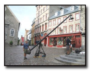 Jib set up in Quebec city for Toyota