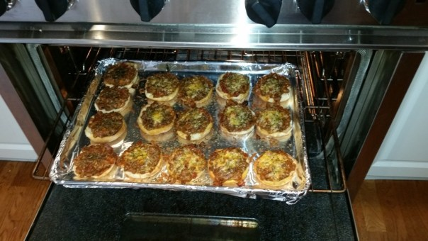 Pizza Burgers Coming Out of Oven 2