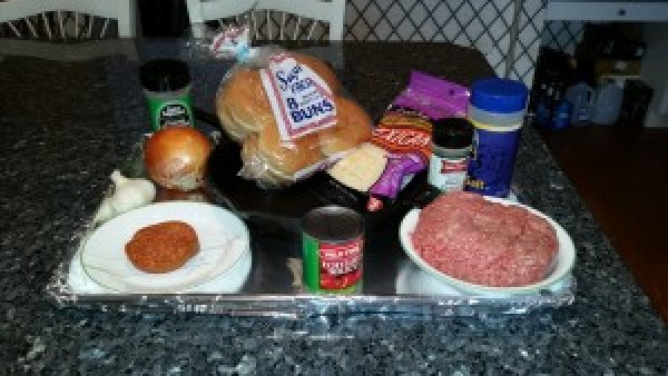 Pizza Burgers Ingredients