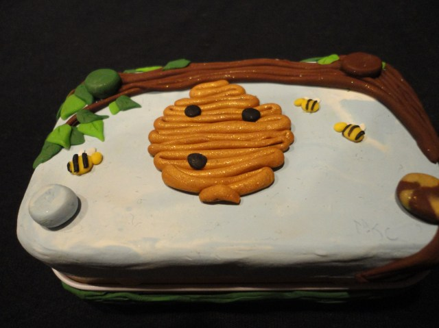 Polymer Clay Tin Bee Hive