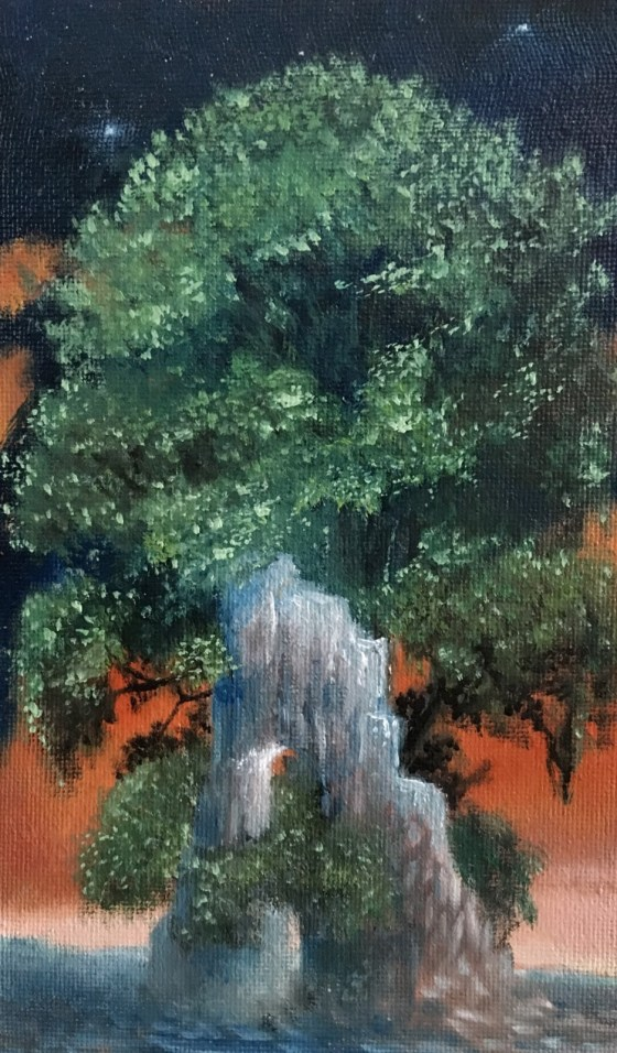 The Giant Trees - Oil on Masonite - 2018 - 20x30 cm
