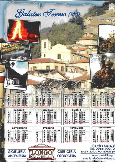 Calendario Longo Gioielli 2011 - Galatro