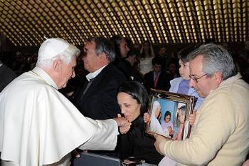 Incontro di Peppe Romeo con Benedetto XVI