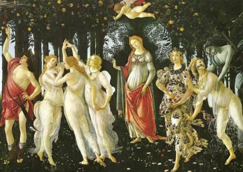 Sandro Botticelli, La Primavera, 1478 circa, Galleria degli Uffizi, Firenze