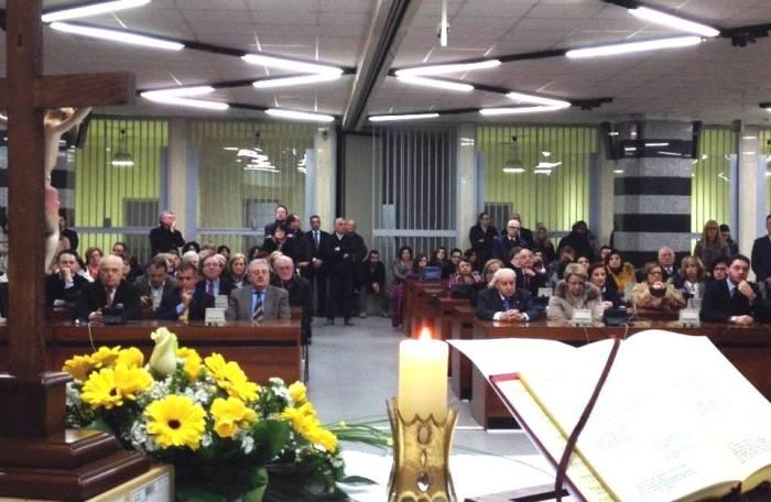 Tribunale di Palmi, 20 marzo 2015, Aula Bunker: Precetto Pasquale organizzato dell'Unione Giuristi Cattolici di Palmi.