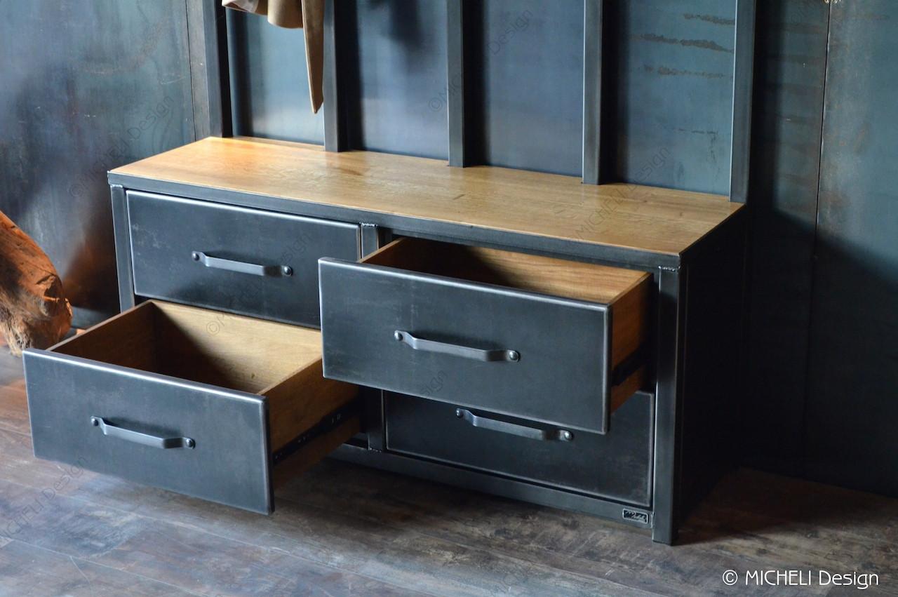 style industriel 4 tiroirs magno