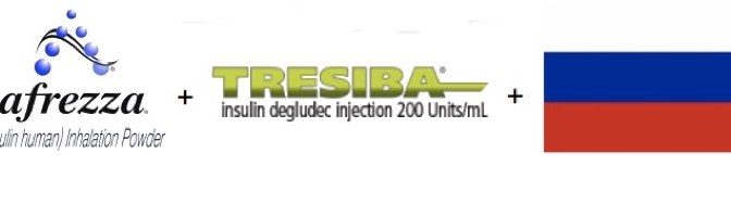 Afrezza + Tresiba + Россия