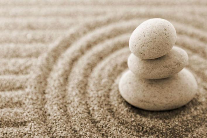 stones in Zen garden