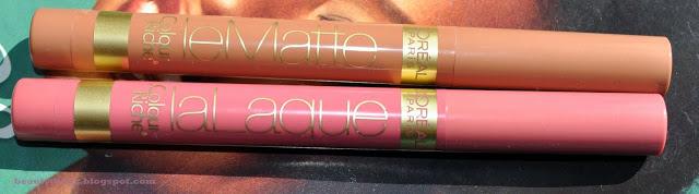 French Kisses: L'Oreal Colour Riche Le Matte and La Laque Lip Colors