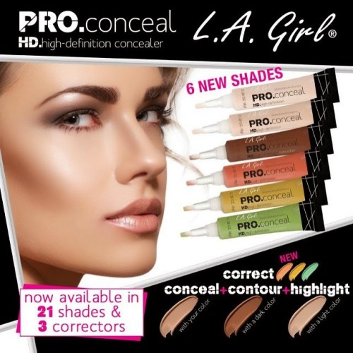 Coming Soon: New LA Girl PRO Conceal HD Concealer Shades and Color Correctors