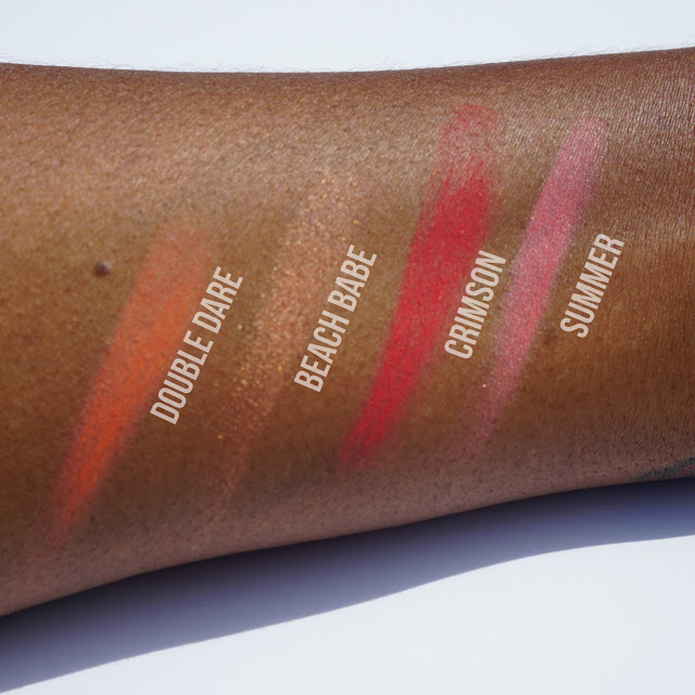 Red, Pink, Orange, Bronze NYX Blushes Swatches