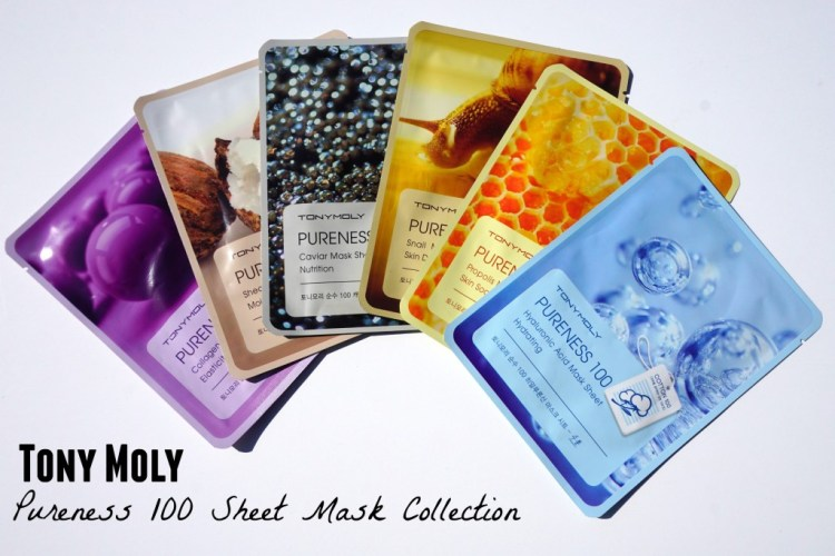"#sheetmaskmonday Tony Moly ""Pureness 100"" Sheet Mask Collection"