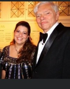 Michelle with composer Dan Tucker